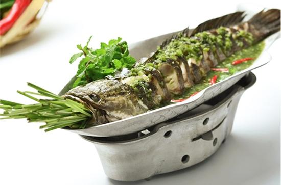 cá lóc hấp nước dừa