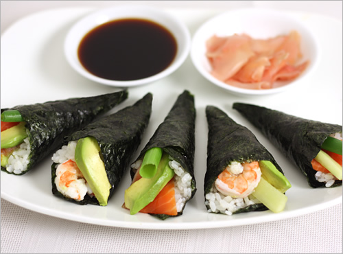 cach lam sushi